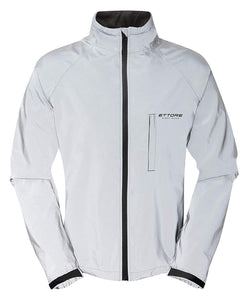 Ettore Night Glow Mens Waterproof Breathable High Visibility Reflective Silver Cycling Jacket
