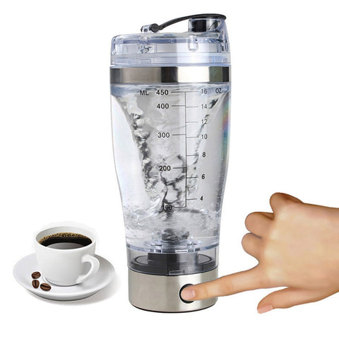 Mini USB 450ml Electric Automatic Protein Shaker Portable Movement Mixing Smart Mixer Drinkware Vortex BPA Water Bottle Blender