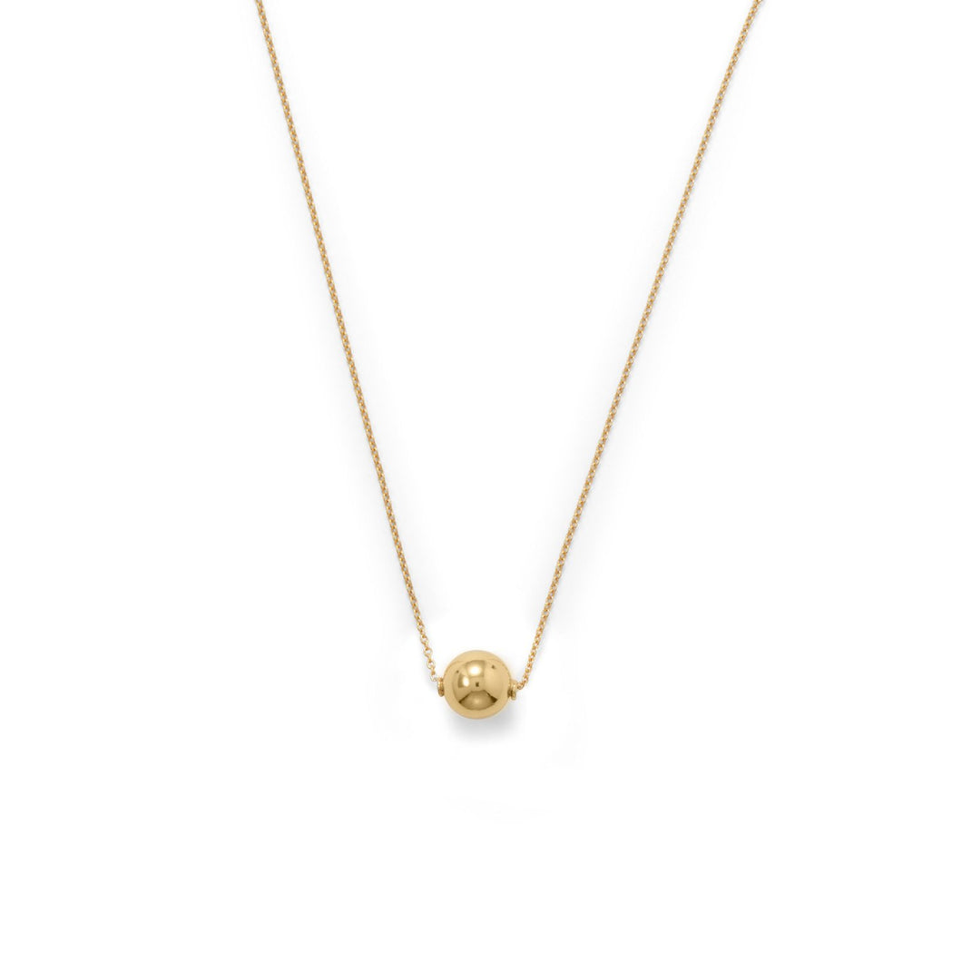 14-Karat Gold Plate Floating Bead Necklace