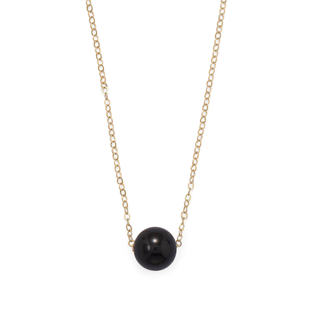 Gold Filled Black Onyx Necklace