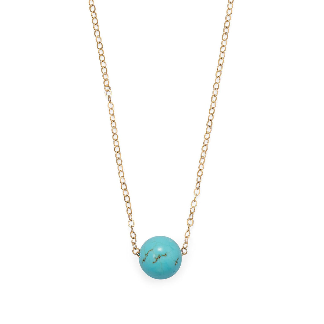 Gold Filled LMagnesite Necklace