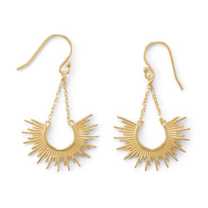 """Shine On!"" 14-Karat Gold Plated Sunburst Earrings"
