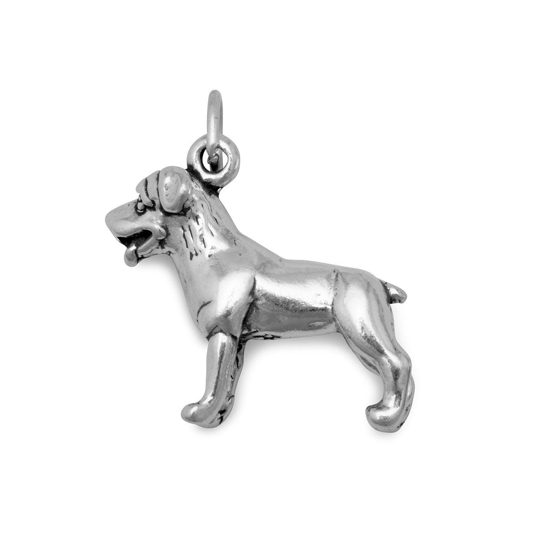 Standing Rottweiler Dog Charm