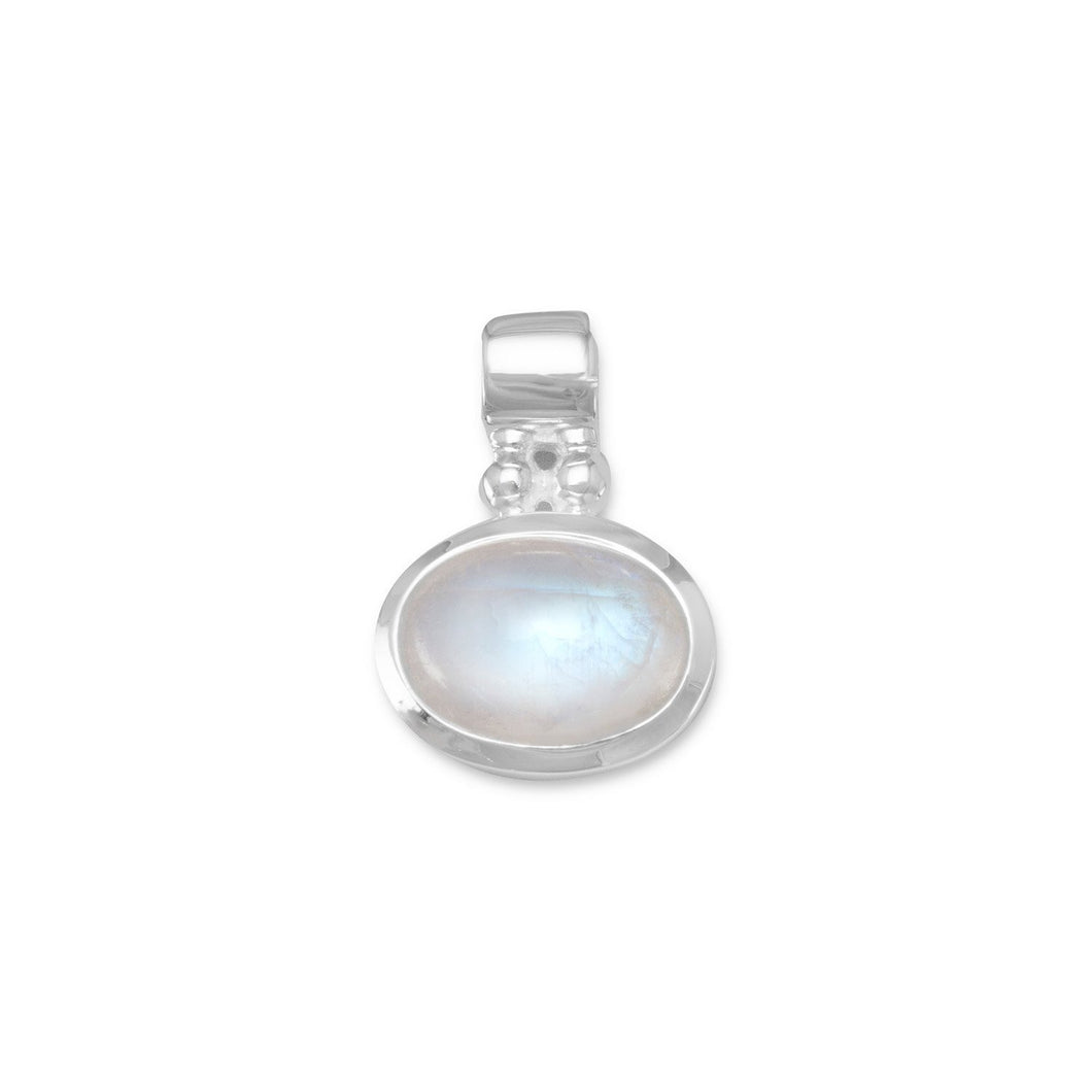 Oval Rainbow Moonstone Pendant