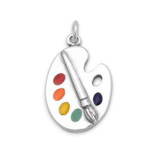 Painter's Palette with Enamel Colors Charm