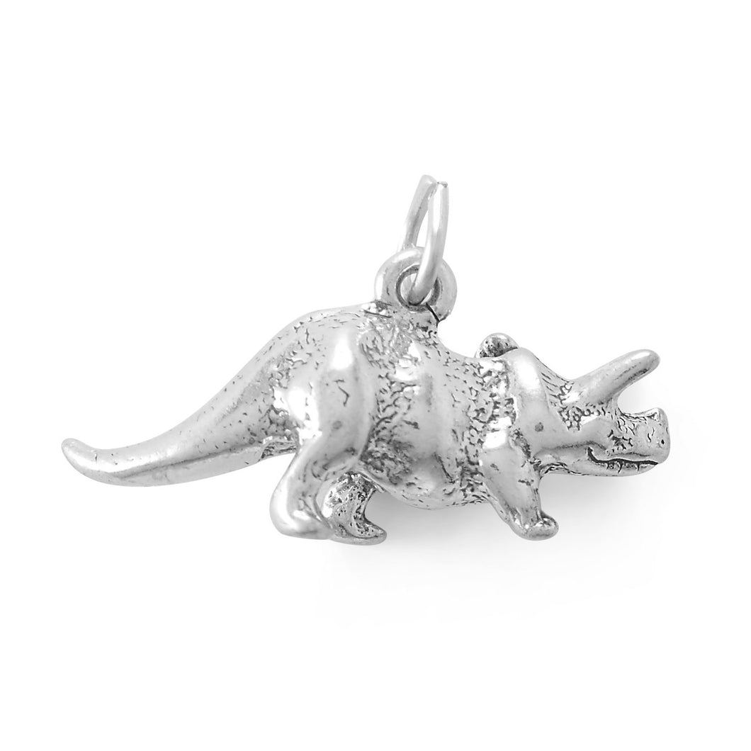 Rawrsome! Triceratops Charm