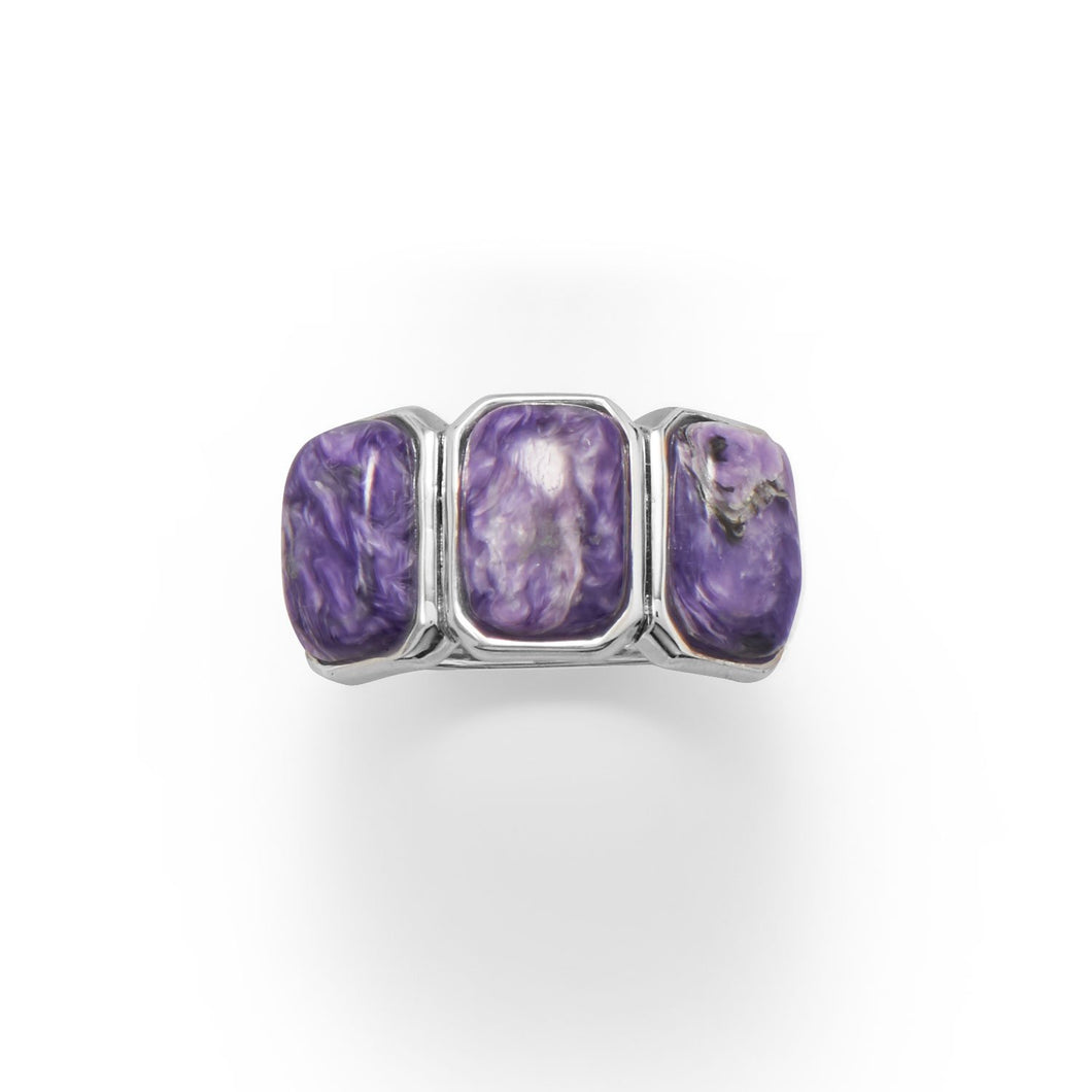 Three Times A Charm! Charoite Ring