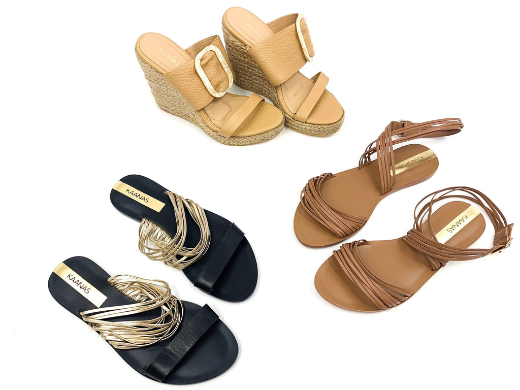 KAANAS | Assorted Sandals | Shelf-Pulls & Returns | 4 Pair Bundles
