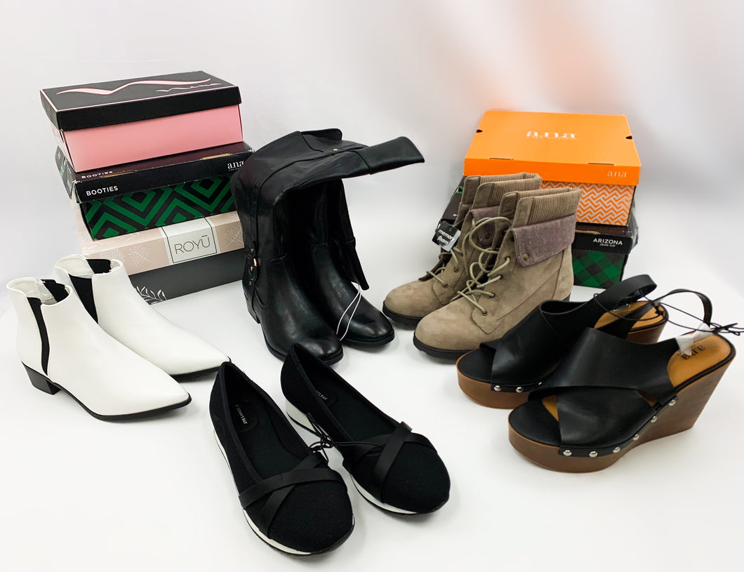 JCP Retailer | Assorted Shoes | New Shelf Pulls  | Assorted Bundle | 5 Pair Minimum