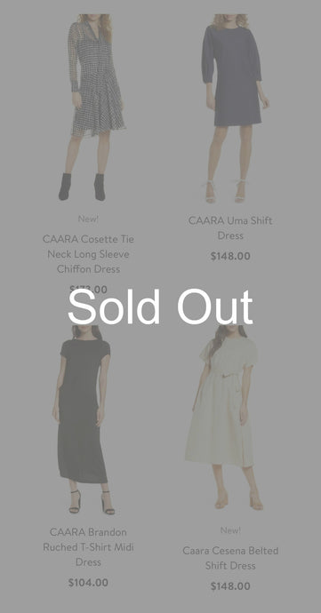 CAARA | Designer Ladies Assorted Apparel | New Overproduction | 50 Piece Min.