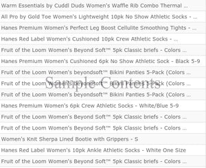TGT Brands | Women's Apparel | Assorted | Grade A & Returns | 25 Piece Min.