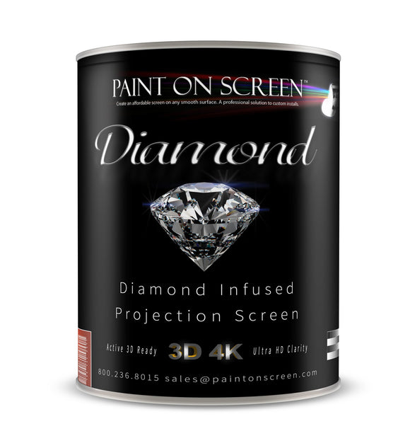 Diamond Infused Projection Screen Projection Screen Paint