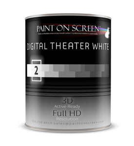 Digital Theater White Projection Screen Paint