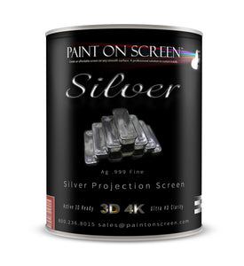 .999 Fine Silver Projection Screen Paint