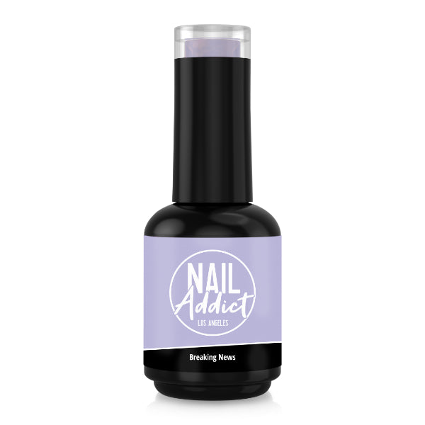 Soak-Off Gel Polish Breaking News Purple Light Purple