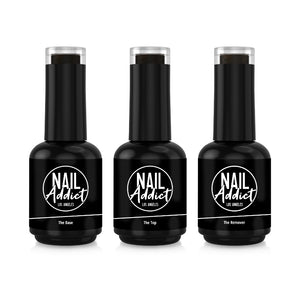 Base Coat, Top Coat & Remover Bundle