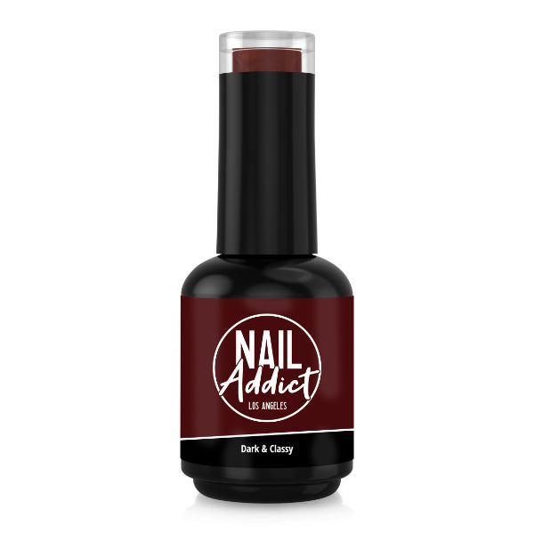Soak-Off Gel Polish Dark & Classy Brown Bordeaux