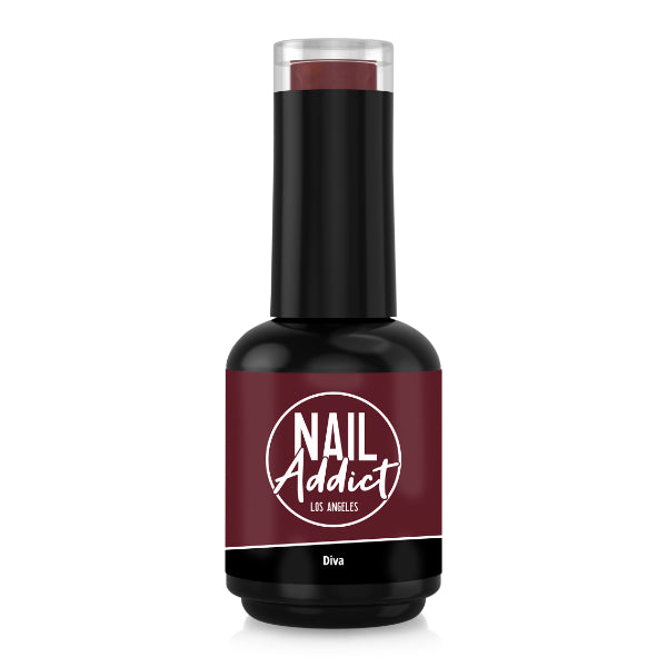 Soak-Off Gel Polish Diva Red Jam