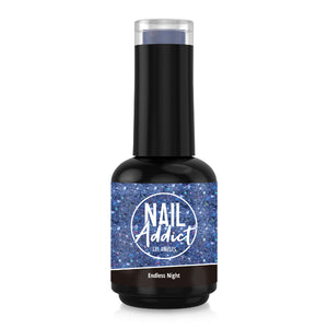 Soak-Off Gel Polish Endless night Blue Glitter Blue