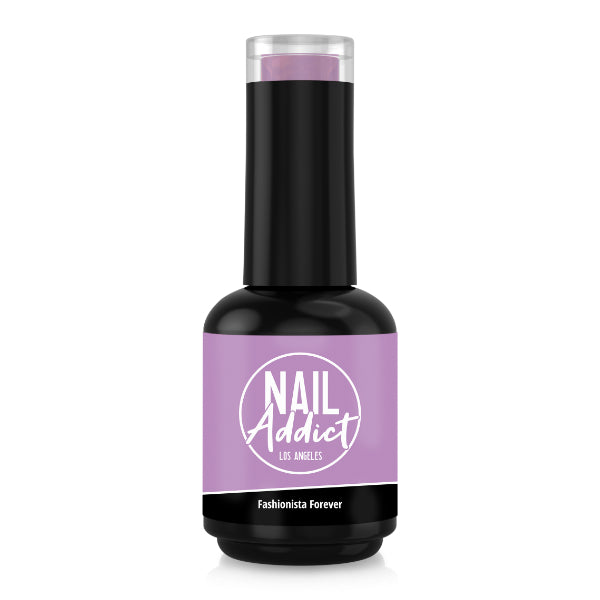 Soak-Off Gel Polish Fashionista Forever Purple Light Purple