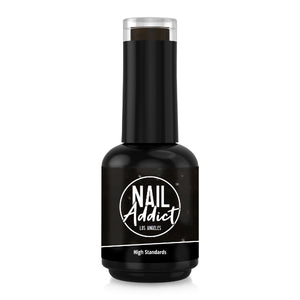 Soak-Off Gel Polish High Standards Black Glitter Black