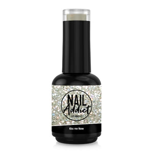 Soak-Off Gel Polish Kiss me Now Silver Glitter Silver