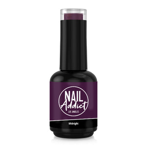 Soak-Off Gel Polish Midnight Purple Dark Purple