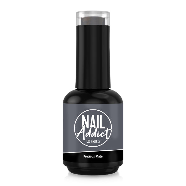 Soak-Off Gel Polish Precious Mate Gray Dark Gray