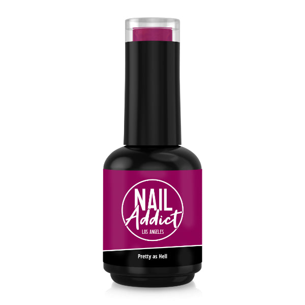 Soak-Off Gel Polish Pretty as Hell Purple Magenta