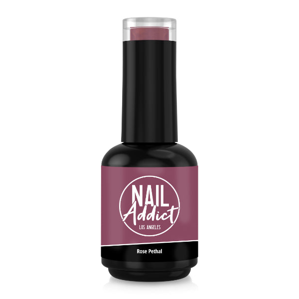 Soak-Off Gel Polish Rose Pethal Pink Soft, Dark Pink