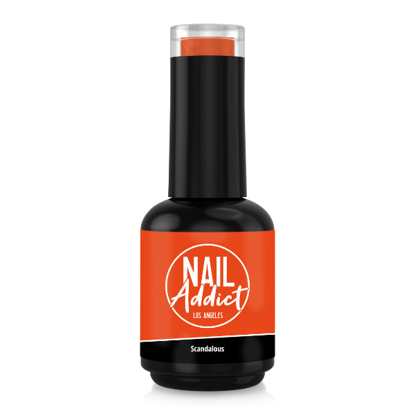 Soak-Off Gel Polish Scandalous Orange Orange