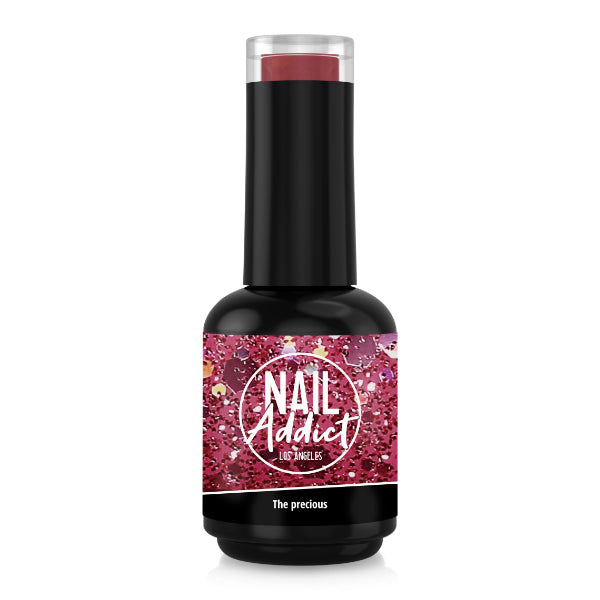Soak-Off Gel Polish The precious Pink Glitter Pink