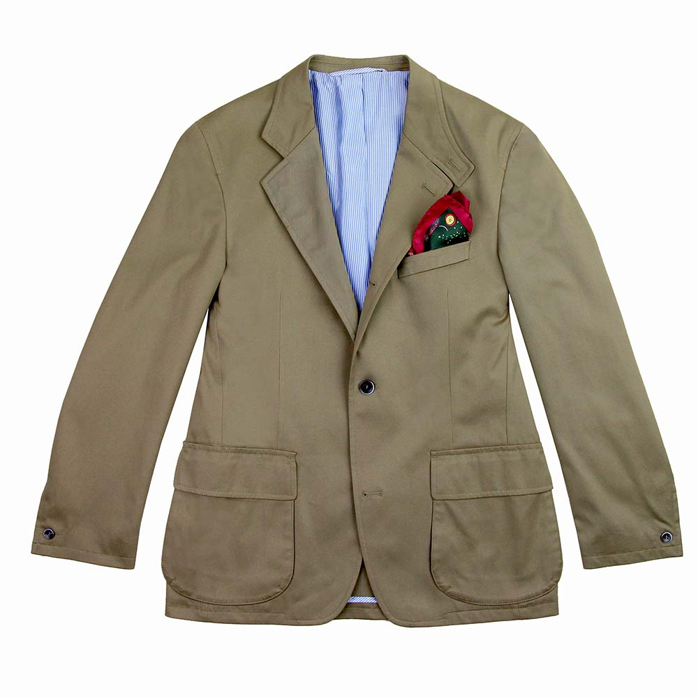Veste Beaumont stretch cotton twill safari