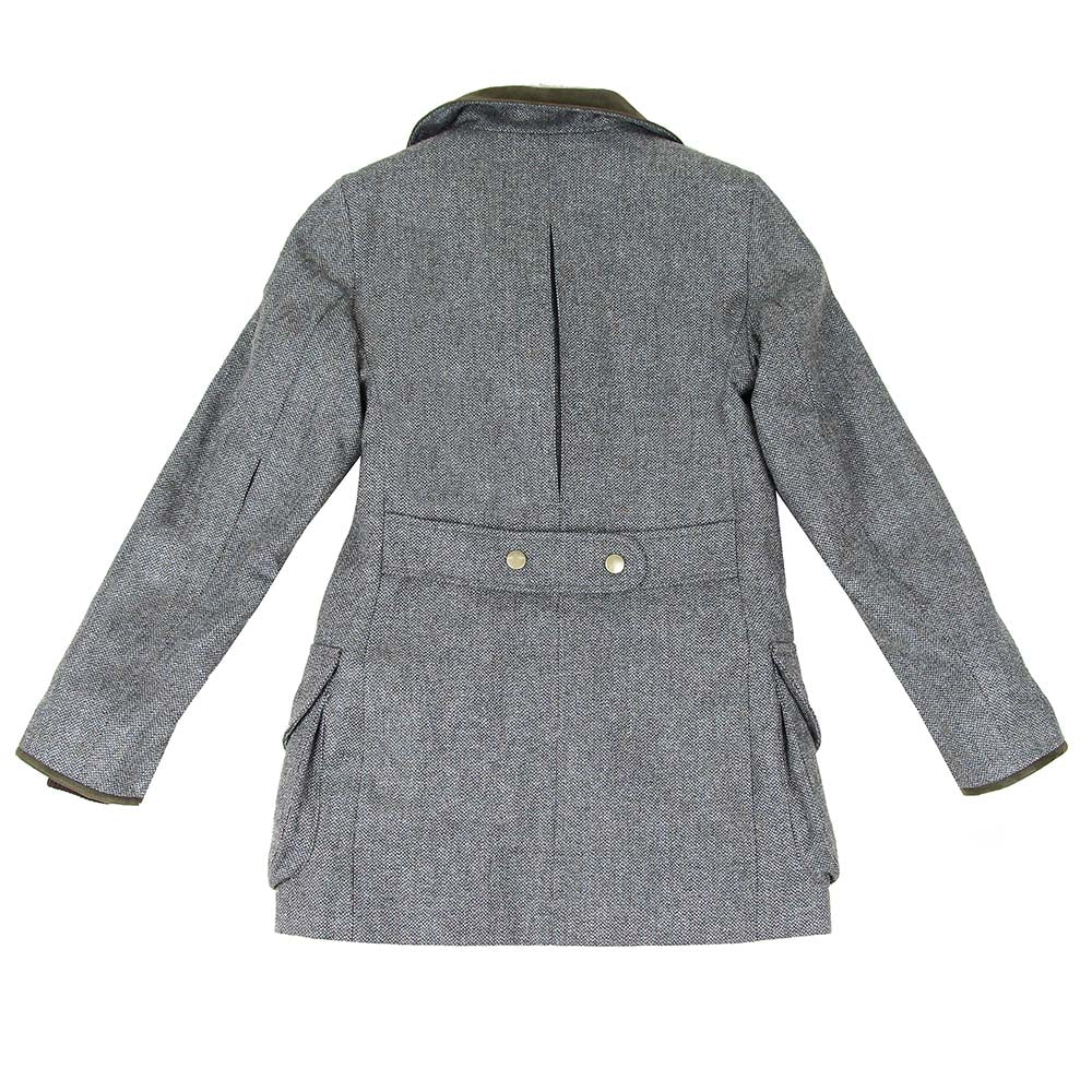 Field-coat new lady tweed Che 155 gris vert - orange