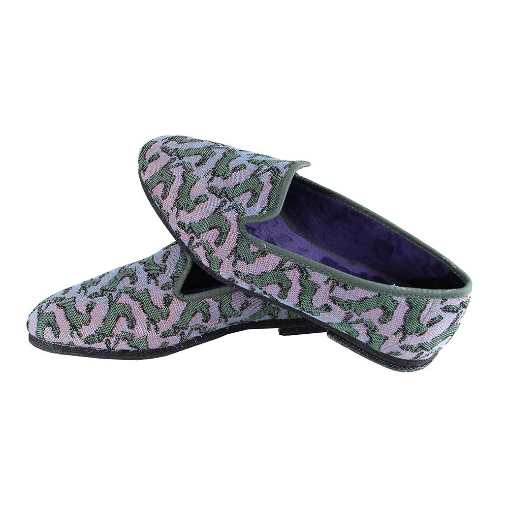 Casual slippers Bestiaire Mirage Lièvres violet - vert