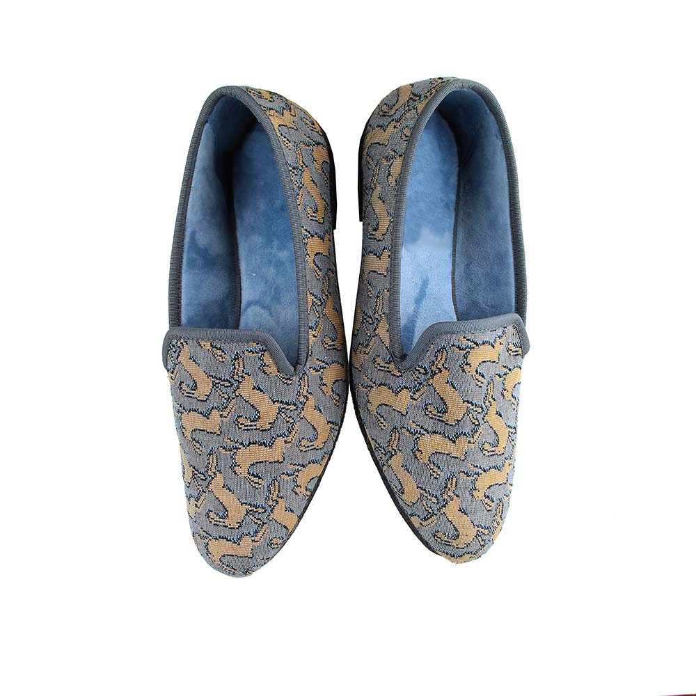 Casual slippers Bestiaire Mirage Lièvres blond - bleu