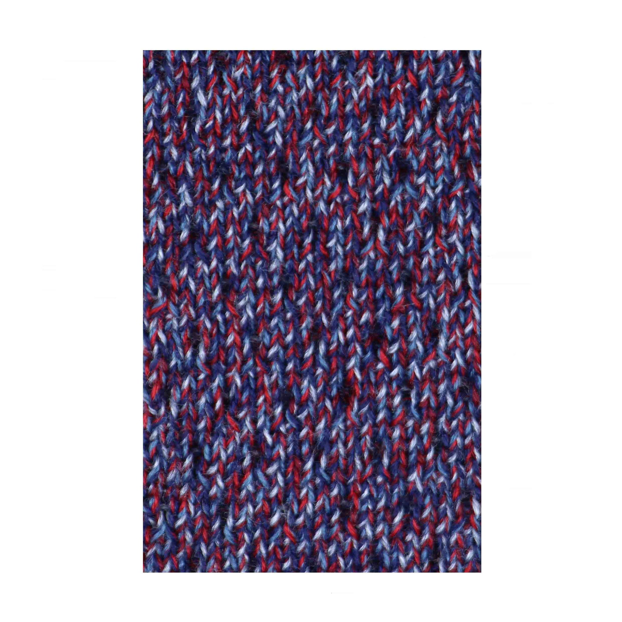 Cravate Galloway tricot de laine rouge bleu gris