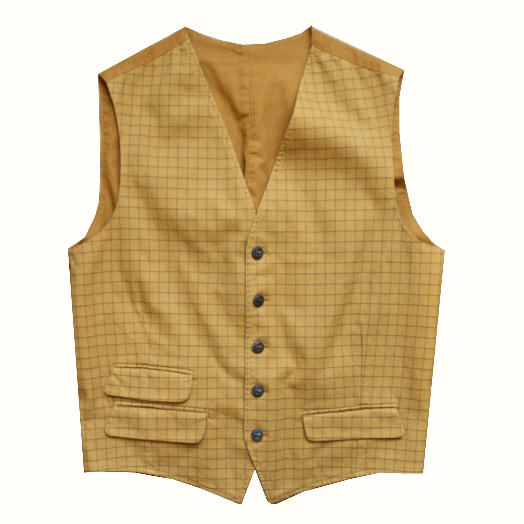 Gilet Equipage Tattersall - moutarde