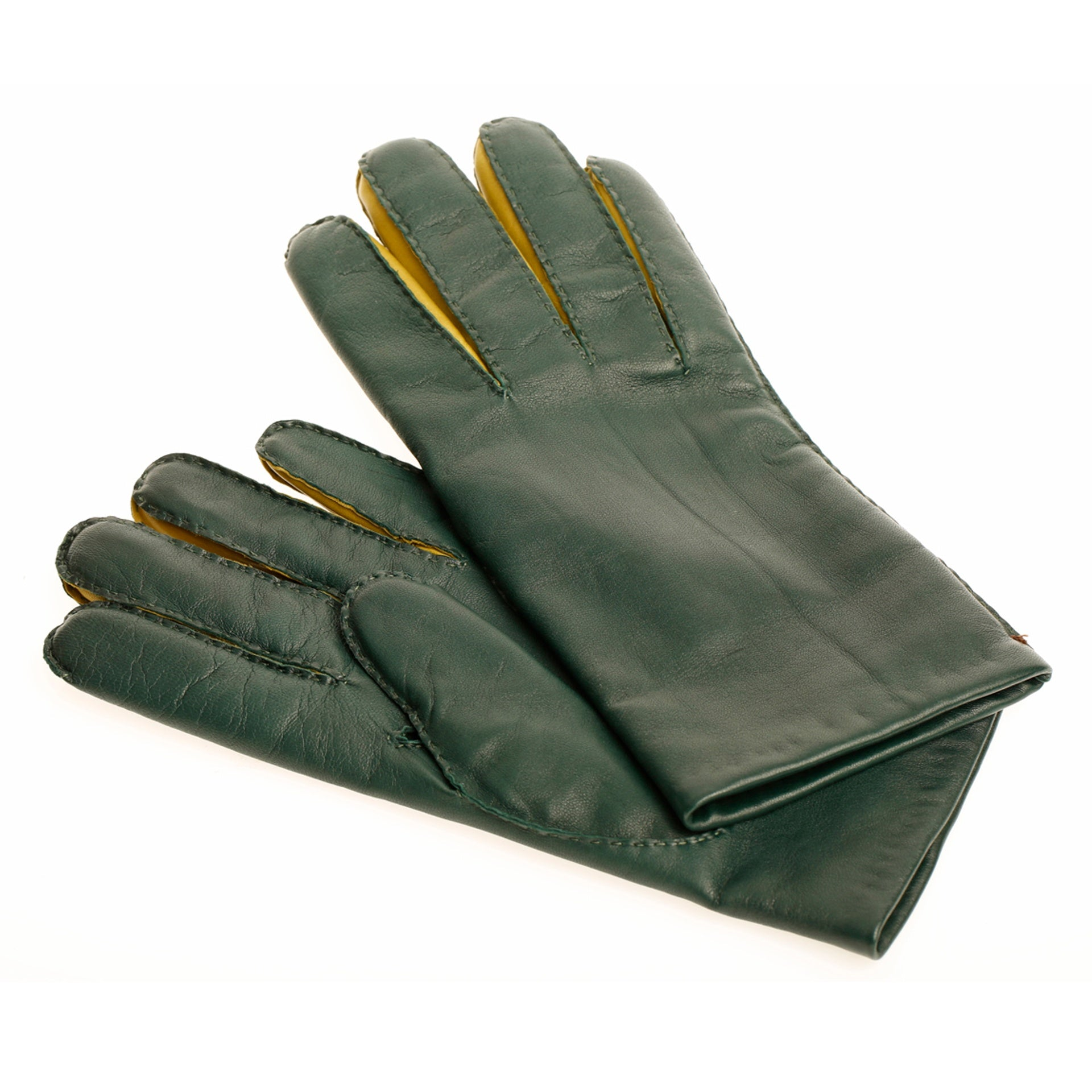 Gants Bicolores men verde fennel