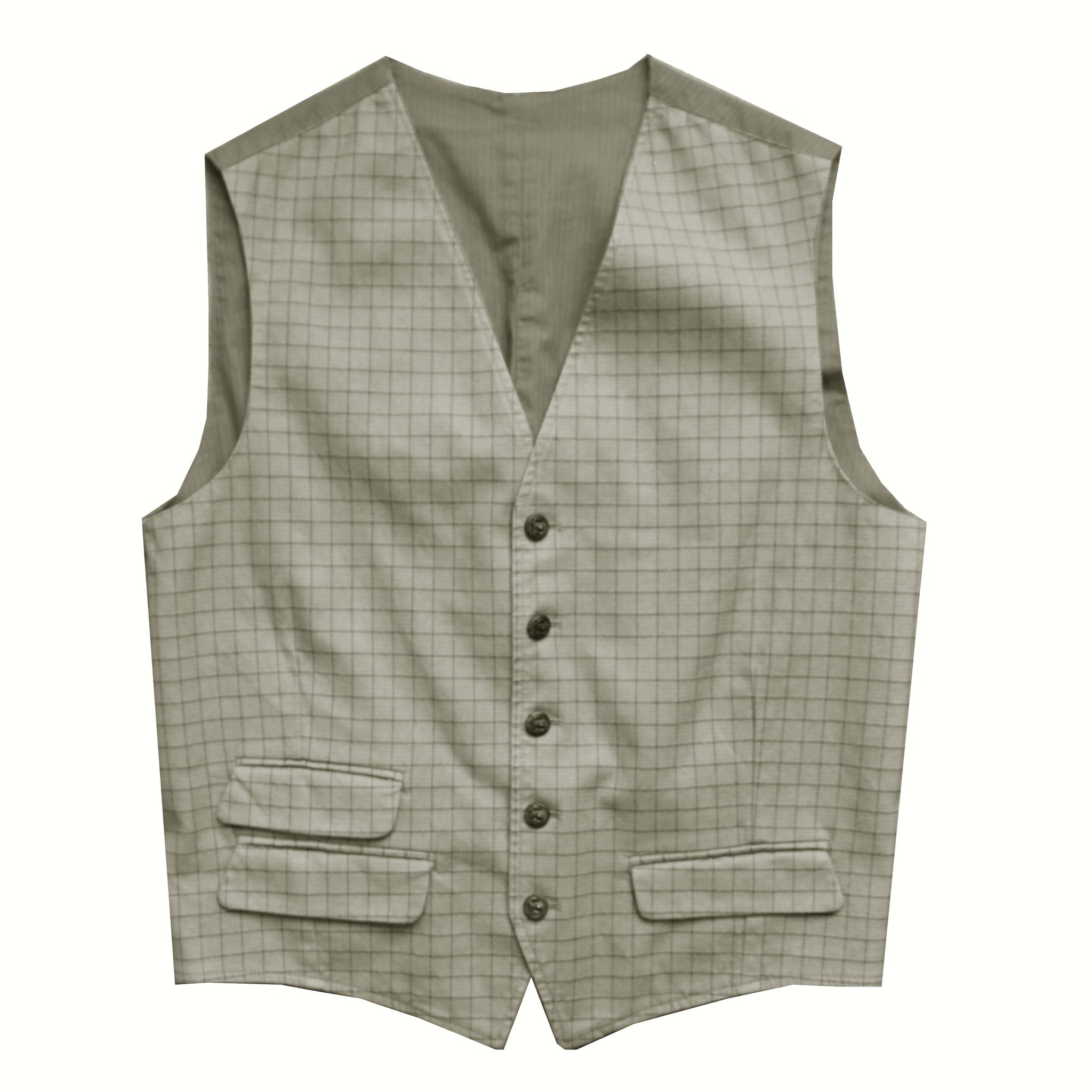 Gilet Equipage Tattersall - olive