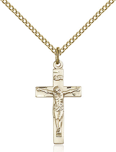 Crucifix Necklace Gold Filled 18""