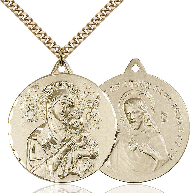 Our Lady of Perpetual Help Medal Gold Filled 24""