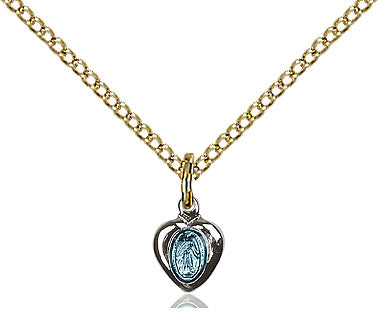 "Miraculous Medal Necklace 18"" Chain"