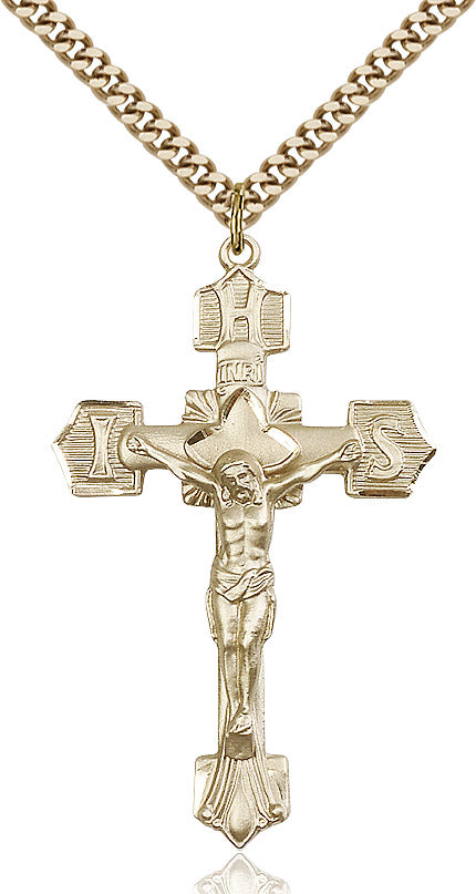 Crucifix Necklace Gold Filled 24""