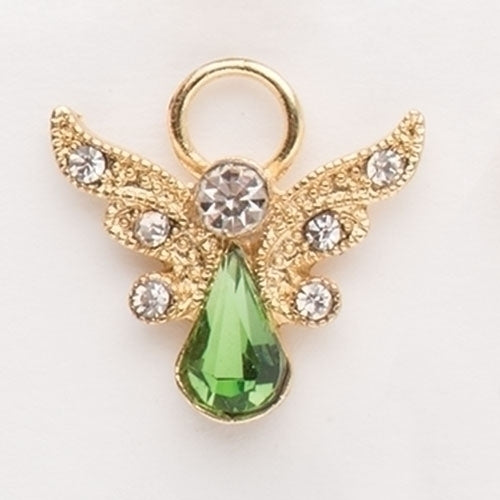 "BIRTHSTONE ANGEL PIN - 1"" AUGUST GOLD"