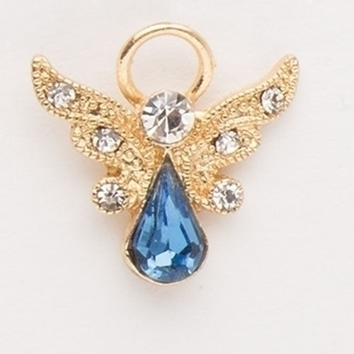 "BIRTHSTONE ANGEL PIN - 1"" DECEMBER GOLD"
