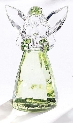 "BIRTHSTONE ANGEL FIGURE - AUGUST 2.75""H"