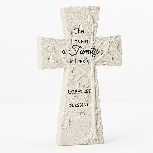 "TABLETOP CROSS STONE 8""H"