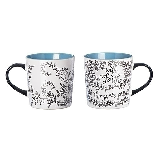 "MUG - 4""H 18OZ ALL THINGS ARE POSSIBLE"