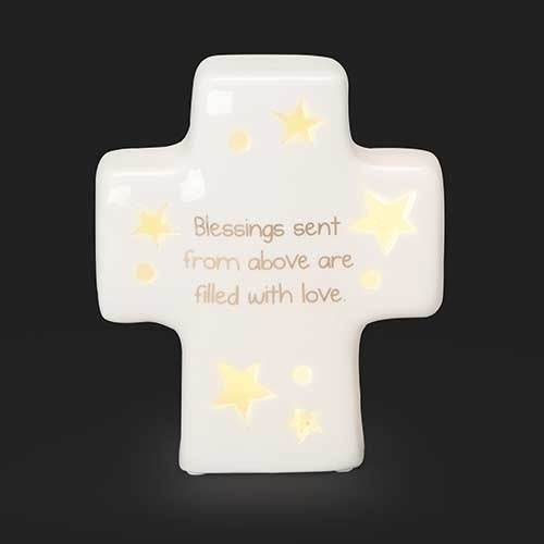 "Sweet Dreams Table Cross LED 4.25""H"